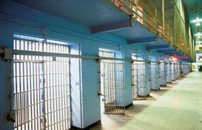 A prison cell block