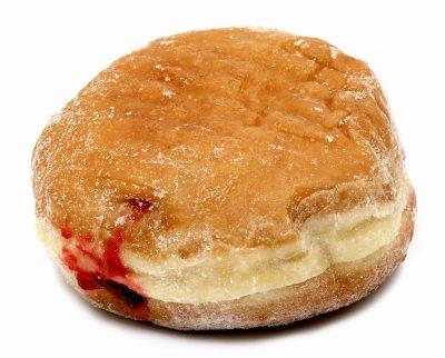 A jelly doughnut