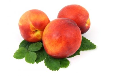 A grouping of peaches