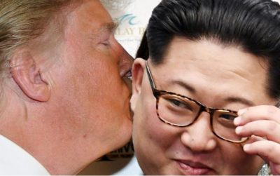 Donald Trump kissing Kim Jong-un